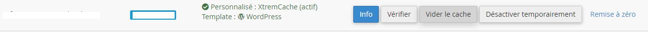 vider le cache wordpress avec xtrem cache